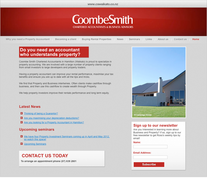 CoombeSmith website