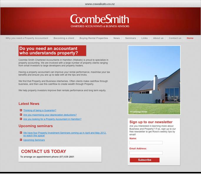 CoombeSmith website