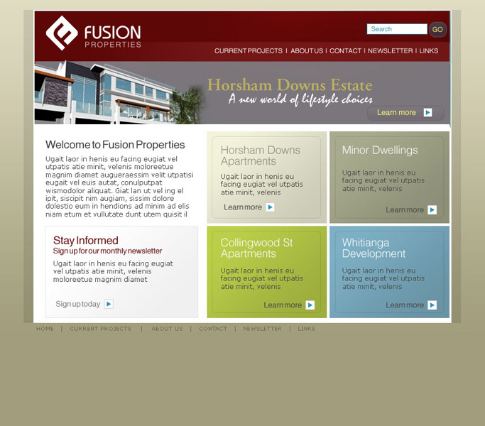Fusion Properties website