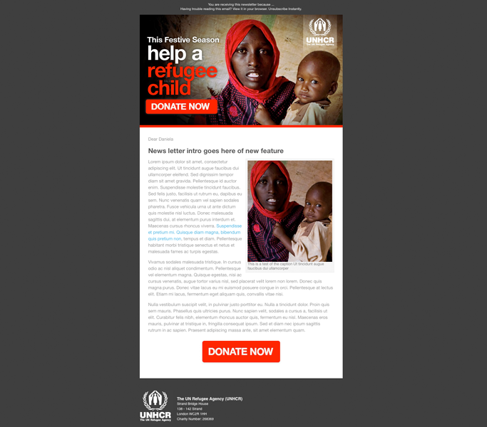 UNHCR Email Appeal