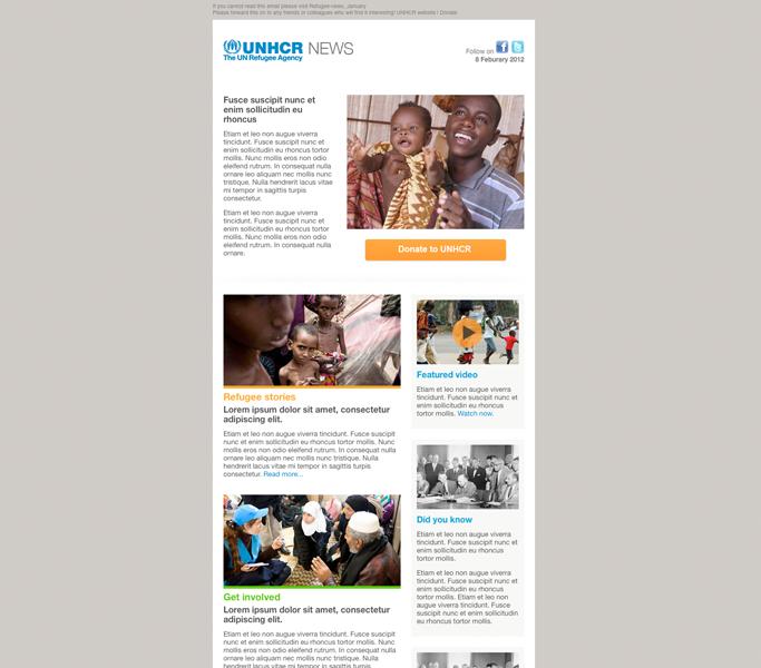UNHCR Email Newsletter