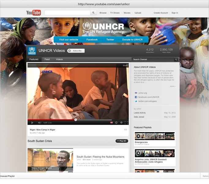 UNHCR YouTube